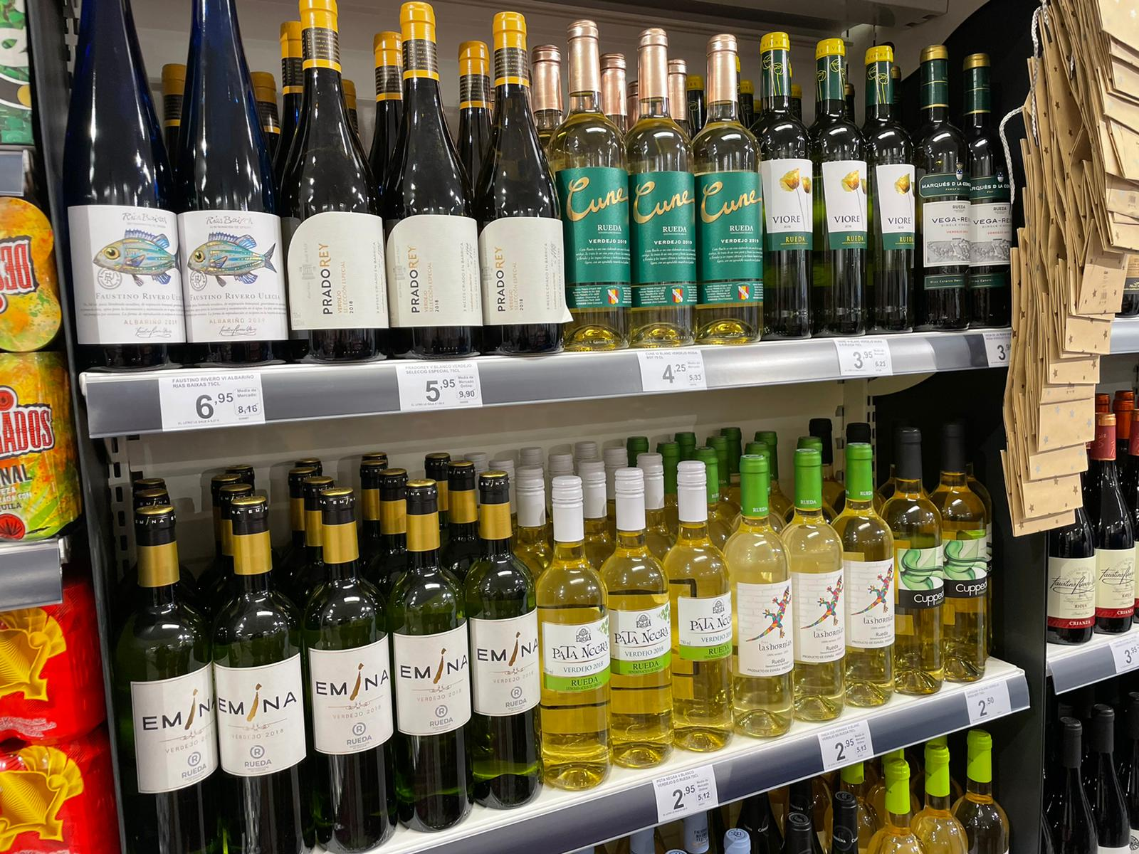 Vins blancs que es poden trobar a Primaprix, la majoria de la D.O Rueda | Nerea Rodríguez