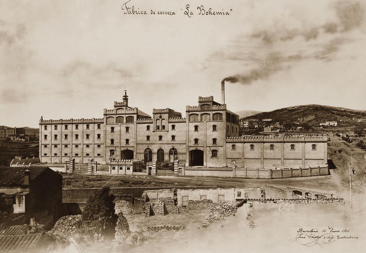 La Bohemia era el nom original de la que ara coneixem com a Antiga Fàbrica Damm de Barcelona / Wikipedia