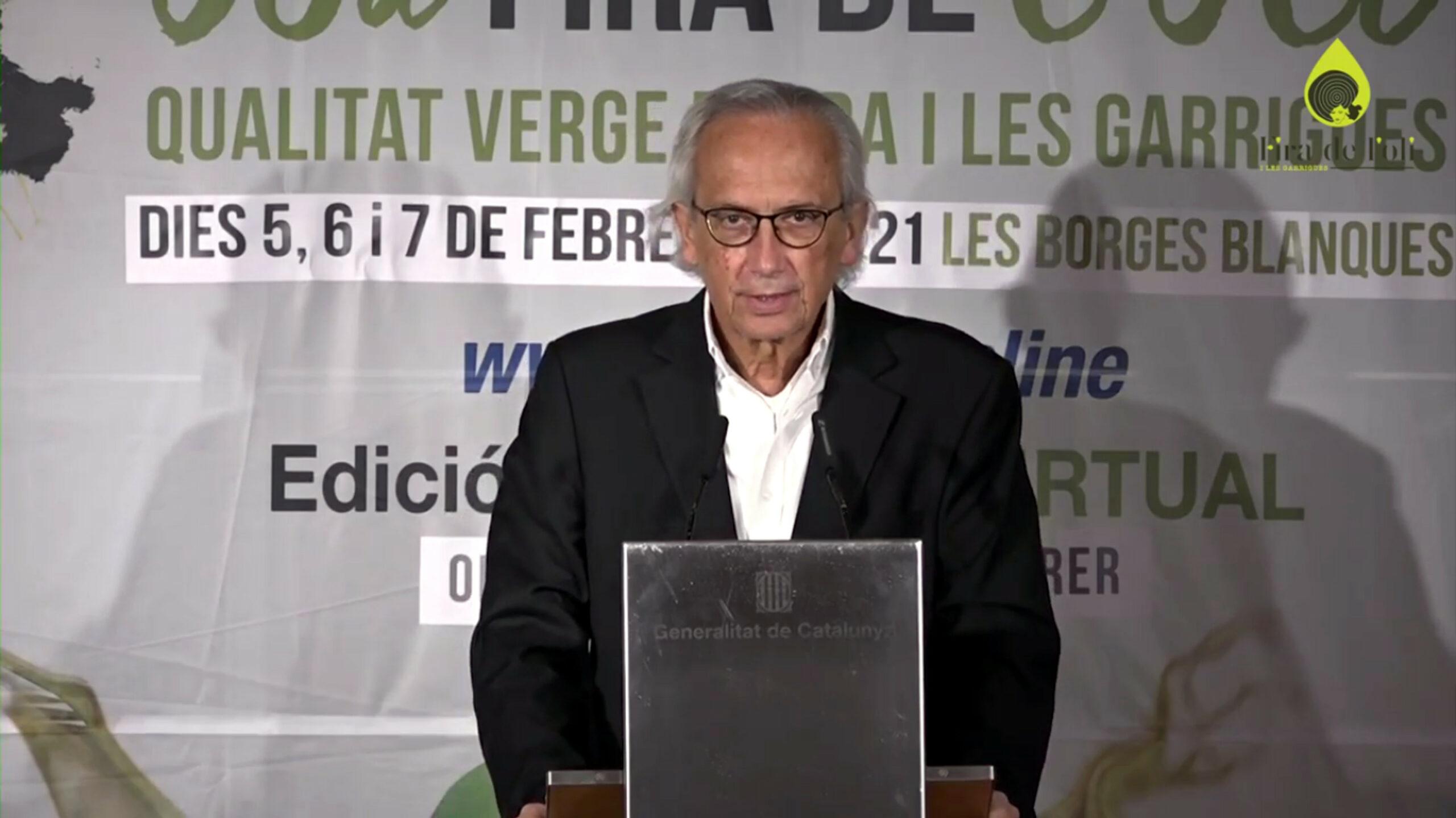 La conferència inaugural de la 58a Fira de l'Oli i les Garrigues, a càrrec del doctor Bonaventra Clotet   ACN