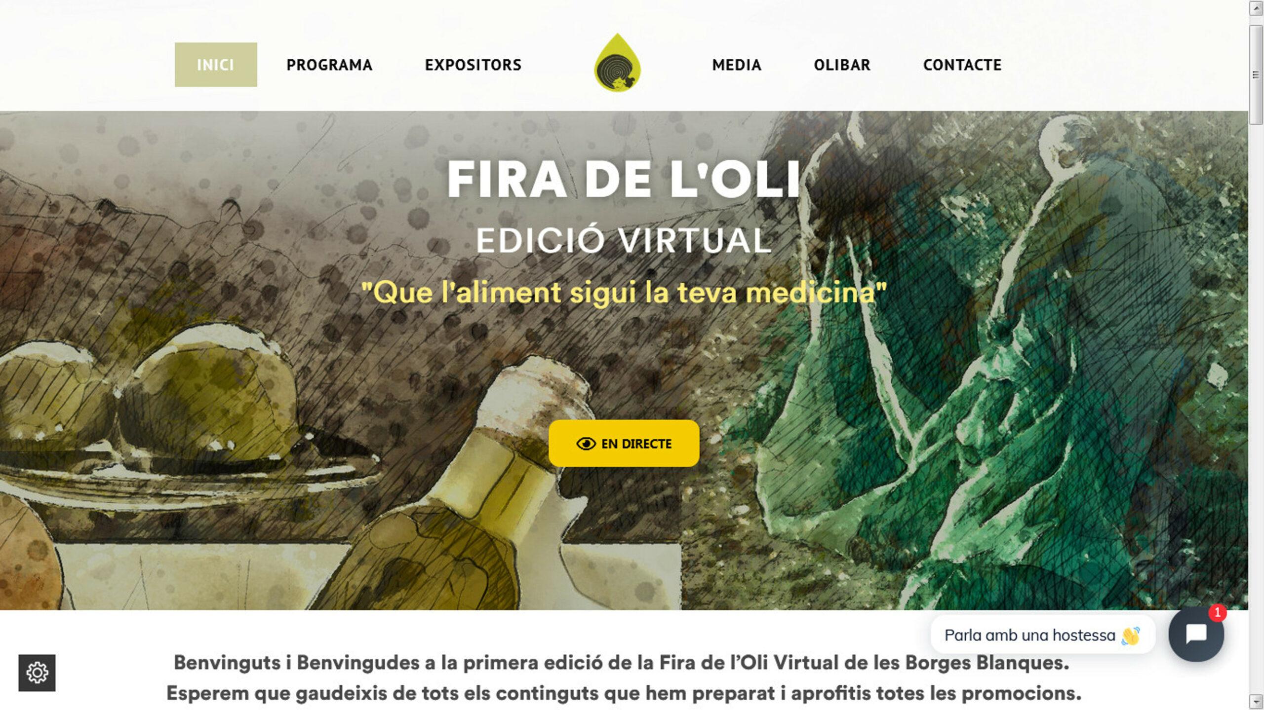 Captura de pantalla del web de la 58a edició de la Fira de l'Oli i les Garrigues   ACN