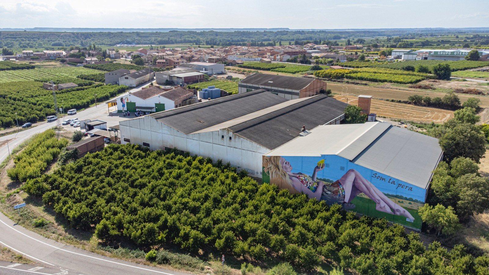 El mural de la DOP Pera de Lleida a Torrelameu | Twitter @DOPperadeLleida